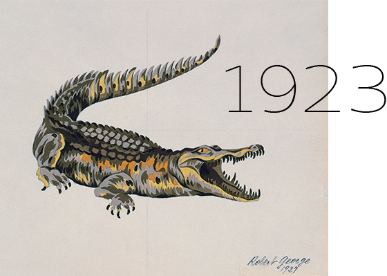 1923 - The first crocodile, the birth of a symbol